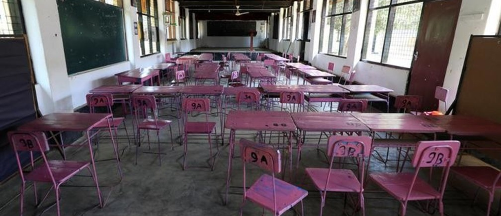 A view of an empty classroom after the government issued an order to close all schools in the country until April 20th as its first coronavirus case was confirmed, in Colombo, Sri Lanka March 13, 2020. REUTERS/Dinuka Liyanawatte
