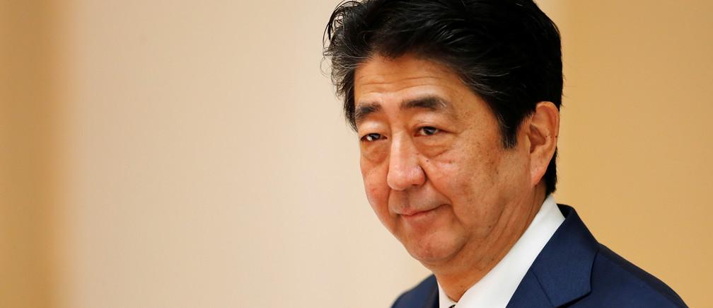 Japan's Prime Minister Shinzo Abe attends the APEC Economic Leaders' Meeting in Danang, Vietnam November 11, 2017. REUTERS/Jorge Silva - RC1BA4A23390