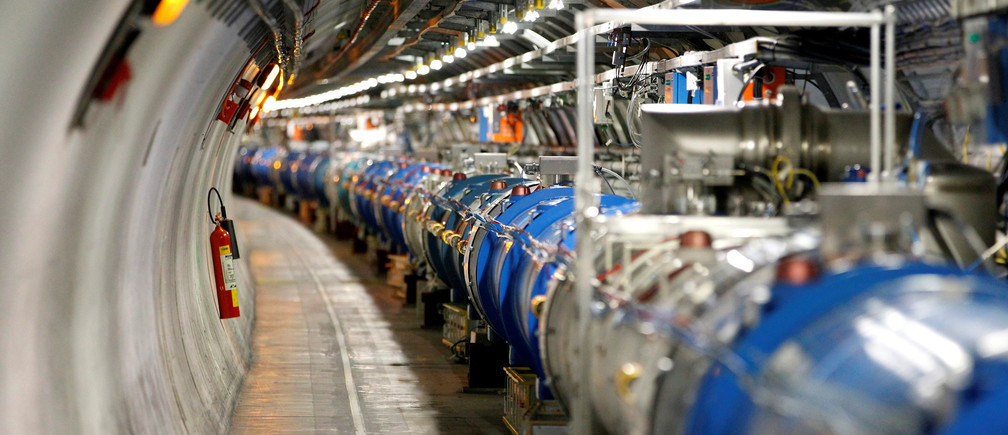 A general view of the Large Hadron Collider (LHC) experiment during a media visit at the Organization for Nuclear Research (CERN) in Saint-Genis-Pouilly, France, near Geneva in Switzerland, July 23, 2014. To match Interview SCIENCE-CERN/  REUTERS/Pierre Albouy/File Photo - RTX2JUC6