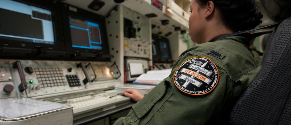 Preparation for an unarmed Minuteman III intercontinental ballistic missile launch
