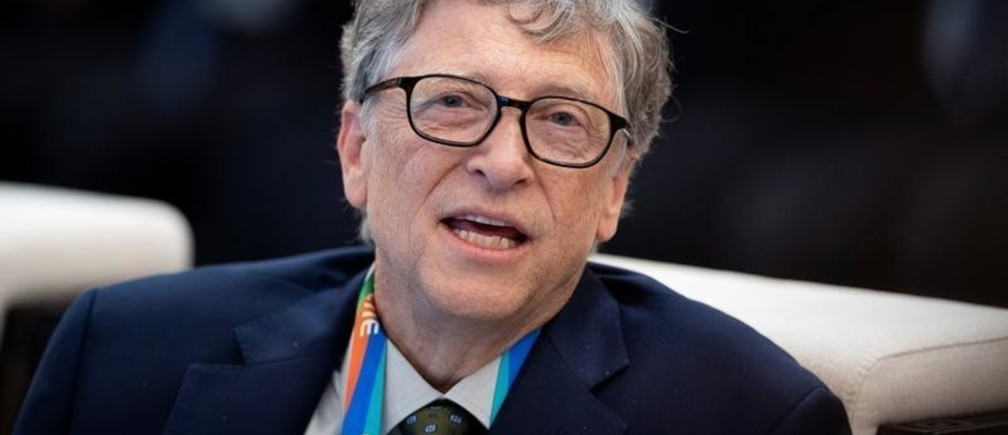 Microsoft founder Bill Gates attends a forum of the first China International Import Expo (CIIE) in Shanghai on November 5, 2018. Matthew Knight/Pool via REUTERS - RC15899BDC70