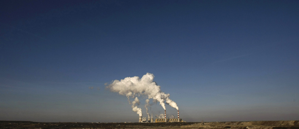 Belchatow Power Station, Europe's largest coal-fired power plant, in Poland.