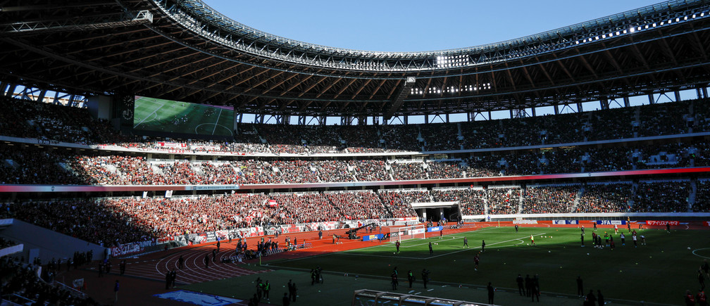 Soccer Football - Tokyo 2020 Olympics Test Event - Emperor's Cup Final -  Vissel Kobe v Kashima Antlers - National Stadium, Tokyo, Japan - January 1, 2020. General view of the stadium before the match.  REUTERS/Issei Kato - RC2W6E9NUKOH