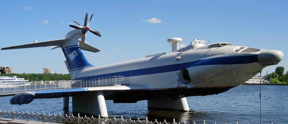 The Soviets' ekranoplan is a potential low-carbon air travel option.