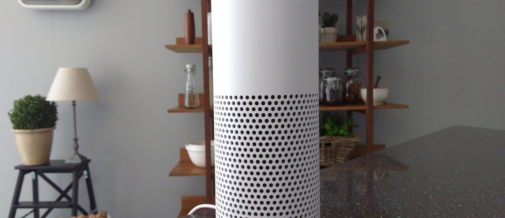 The Amazon Echo, a voice-controlled virtual assistant, is seen at its product launch for Britain and Germany in London, Britain, September 14, 2016. REUTER/Peter Hobson - RTSNQKM