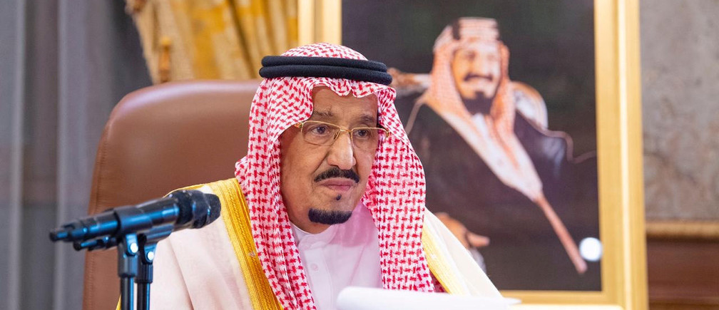 Saudi King Salman bin Abdulaziz delivers a televised speech regarding the outbreak of the coronavirus disease (COVID-19), in Riyadh, Saudi Arabia March 19, 2020. Picture taken March 19, 2020. Bandar Algaloud/Courtesy of Saudi Royal Court/Handout via Coronavirus china virus health healthcare who world health organization disease deaths pandemic epidemic worries concerns Health virus contagious contagion viruses diseases disease lab laboratory doctor health dr nurse medical medicine drugs vaccines vaccinations inoculations technology testing test medicinal biotechnology biotech biology chemistry physics microscope research influenza flu cold common cold bug risk symptomes respiratory china iran italy europe asia america south america north washing hands wash hands coughs sneezes spread spreading precaution precautions health warning covid 19 cov SARS 2019ncov wuhan sarscow wuhanpneumonia  pneumonia outbreak patients unhealthy fatality mortality elderly old elder age serious death deathly deadly