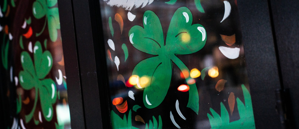 A shuttered Irish pub is pictured on St. Patrick's Day following the outbreak of Coronavirus disease (COVID-19) in New York City, New York, U.S., March 17, 2020.