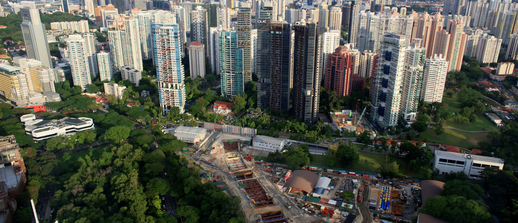 Singapore's skyline is seen in June 2017.