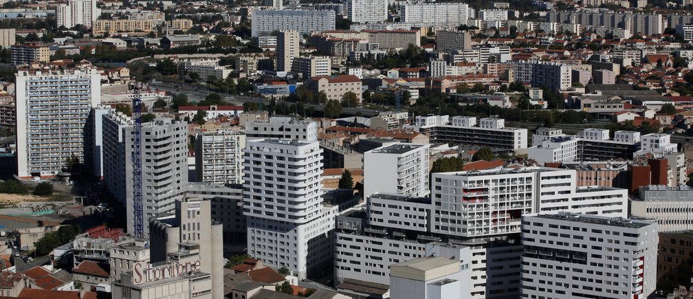 A general view shows appartment blocks in Marseille, France, October 24, 2018.  REUTERS/Jean-Paul Pelissier - RC18F56C6780