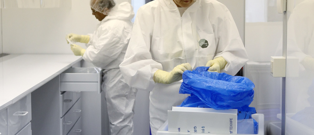 Scientists work at the International Atomic Energy Agency (IAEA).