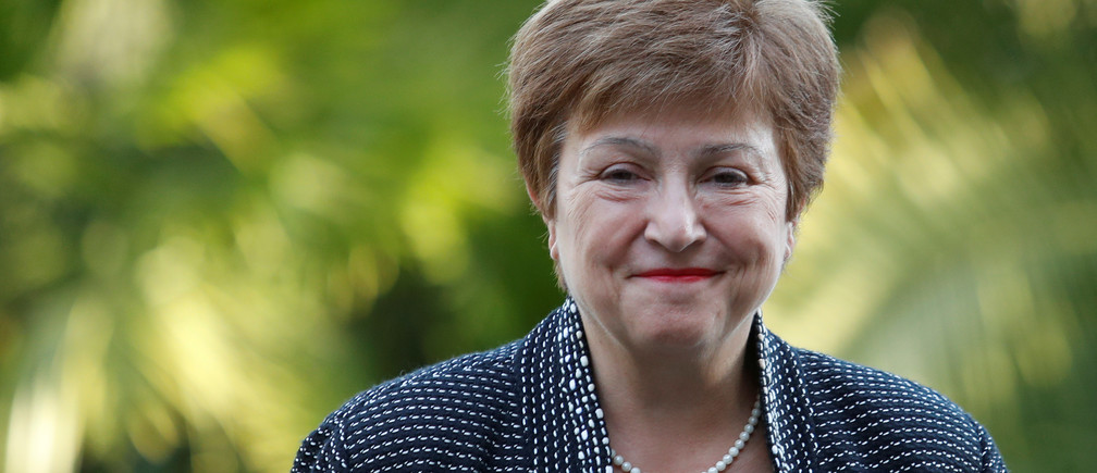 IMF Managing Director Kristalina Georgieva arrives for a conference hosted by the Vatican on economic solidarity, at the Vatican, February 5, 2020.