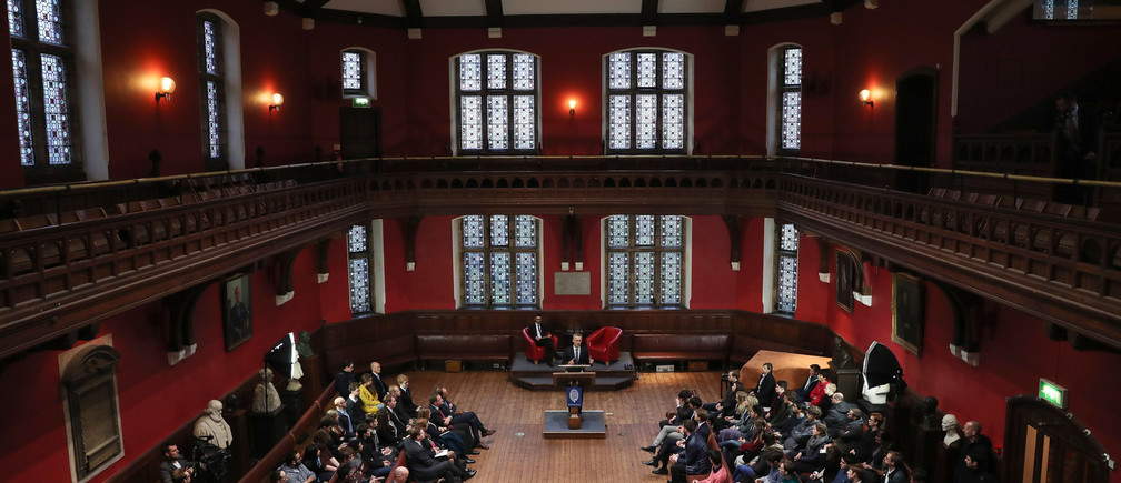 NATO Secretary General Jens Stoltenberg makes a speech at The Oxford Union in the University of Oxford, southern England November 24, 2016.   REUTERS/Eddie Keogh - LR1ECBO18ZFH8