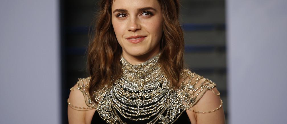2018 Vanity Fair Oscar Party – Arrivals – Beverly Hills, California, U.S., 04/03/2018 –  Actress Emma Watson. REUTERS/Danny Moloshok - HP1EE350L0NV8