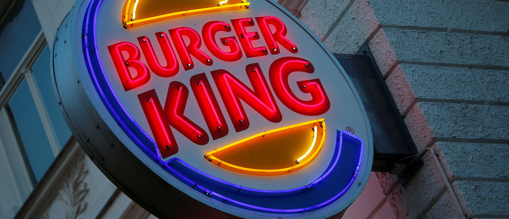 The logo of Burger King is seen outside a shop in Vienna in Vienna, Austria, October 1, 2016.    REUTERS/Leonhard Foeger - RTX2HDG8 - RTSR03U