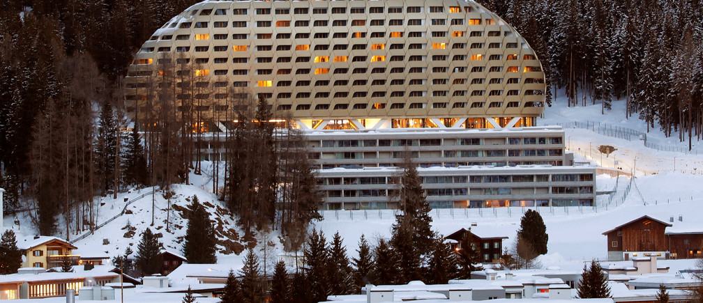 The InterContinental hotel is seen in the Swiss mountain resort of Davos, Switzerland, January 11, 2018  REUTERS/Arnd Wiegmann - RC121B99EFA0