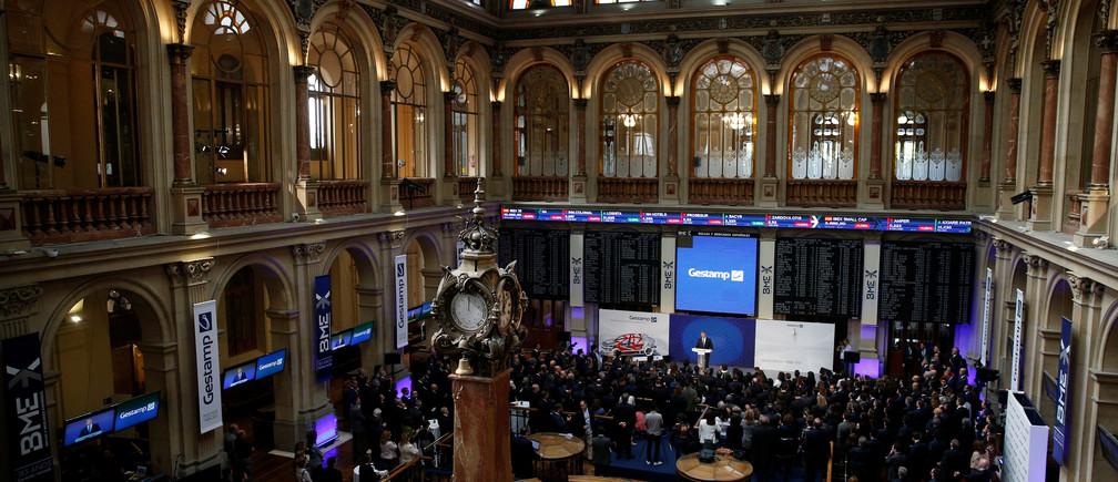 Francisco J. Riberas Mera, President and CEO of Gestamp, speaks during its bourse debut in Madrid, Spain, April 7, 2017. REUTERS/Juan Medina - RTX34JIT