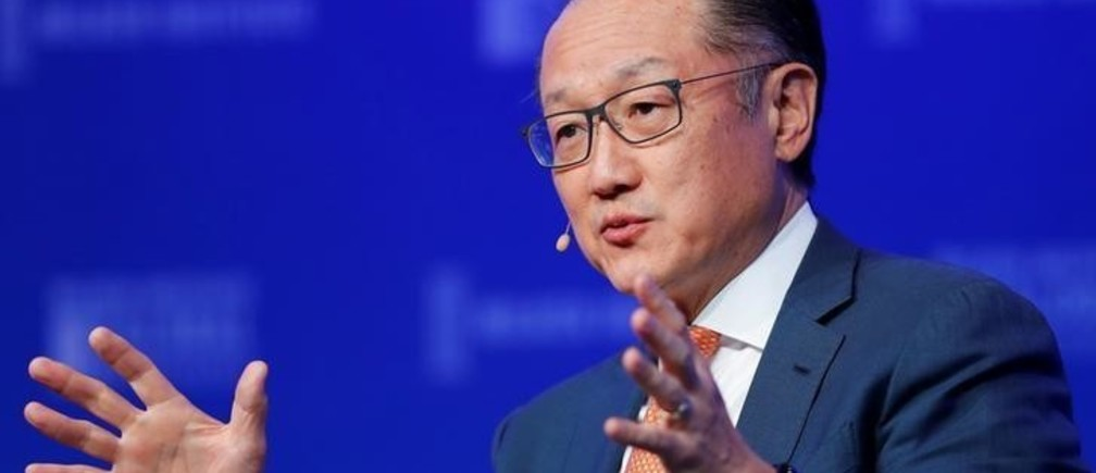 Jim Yong Kim, President, World Bank Group, speaks on health care at the Milken Institute 21st Global Conference in Beverly Hills, California, U.S., April 30, 2018.    REUTERS/Mike Blake