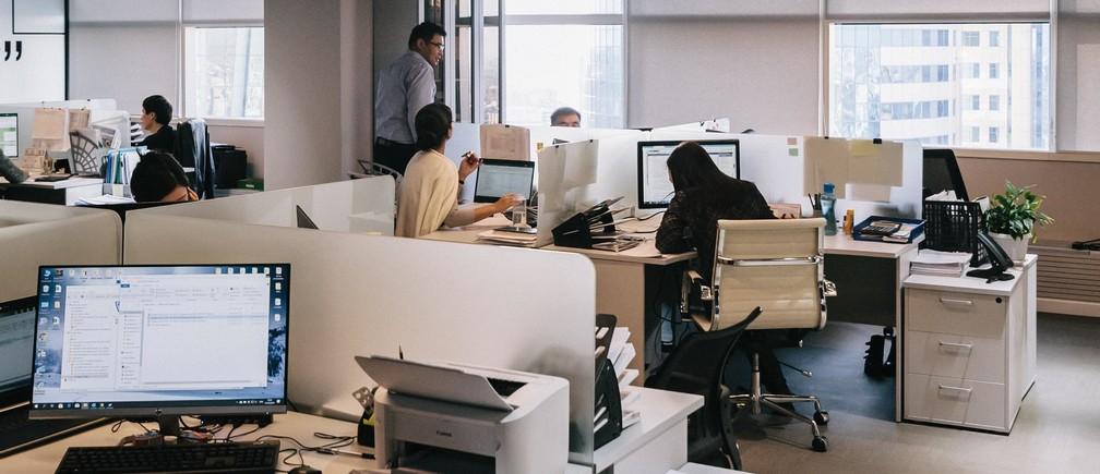 office workers desks