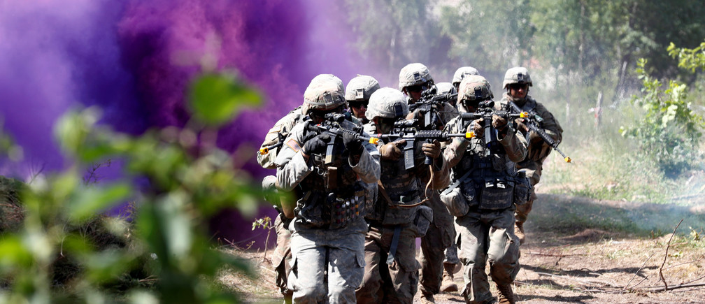 US soldiers take part in a NATO Saber Strike exercise in Latvia