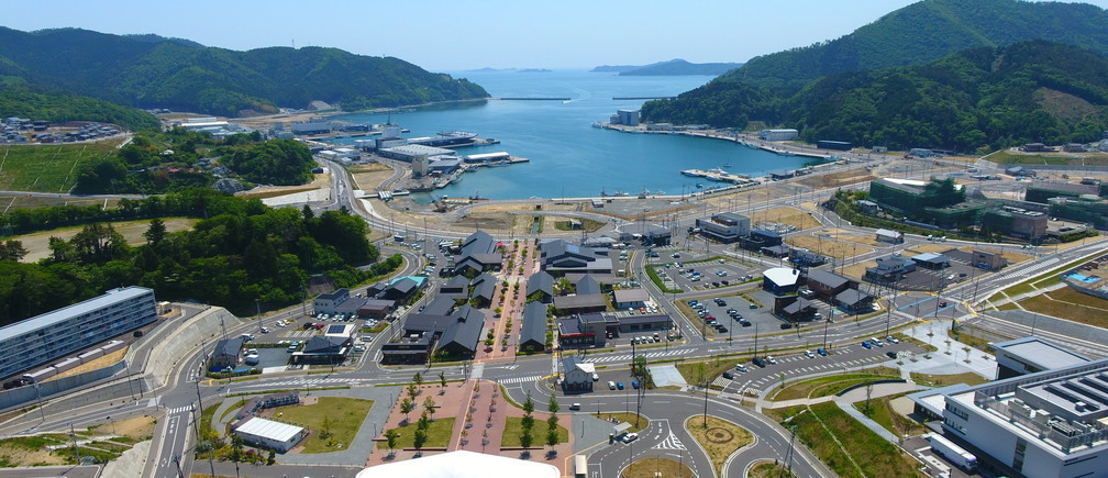 Onagawa town ... eight years after the devastation in 2011.
