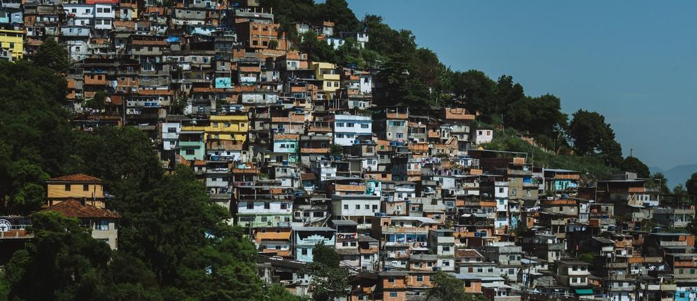 Hillside favela in Rio.