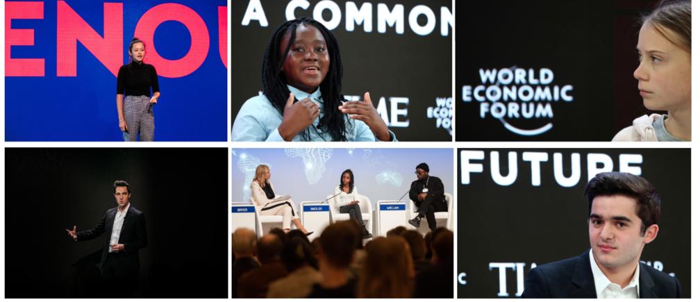 greta thunberg young people davos 2020