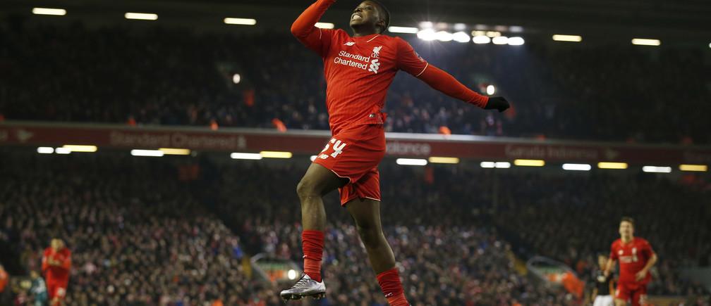 Liverpool's Sheyi Ojo celebrates a goal