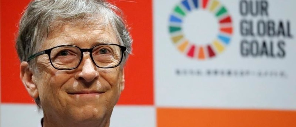 Bill Gates, co-chair of the Bill & Melinda Gates Foundation, attends a news conference as the foundation teams up with the Japan Sports Agency and Tokyo 2020 to promote the Sustainable Development Goals in conjunction with the Olympics, in Tokyo, Japan, November 9, 2018.   REUTERS/Toru Hanai - RC12980133A0