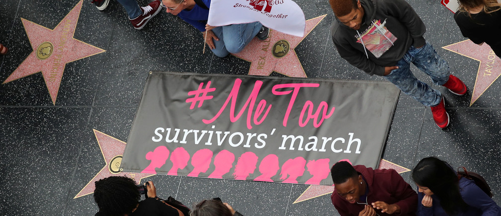 A #MeToo protest march for survivors of sexual assault in Los Angeles, November 2017.