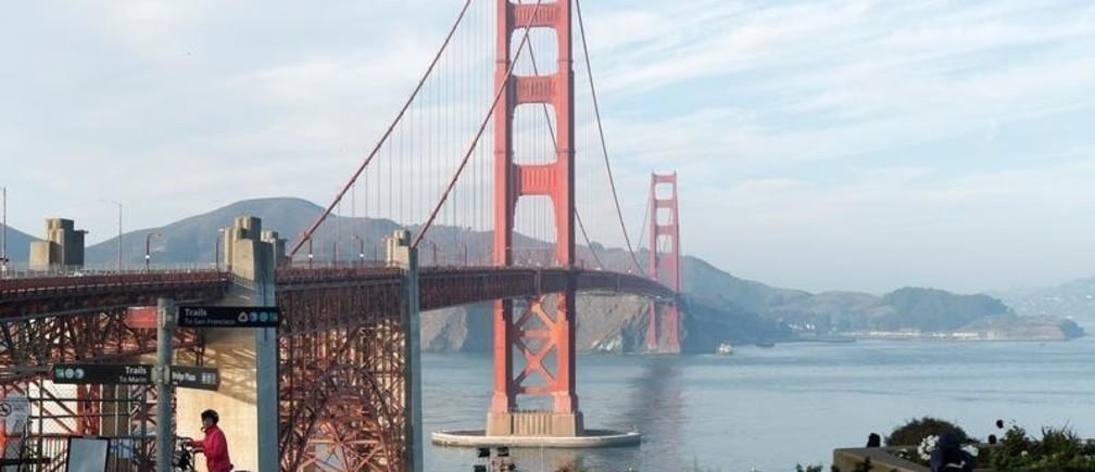 A view of the Golden Gate Bridge in San Francisco, California, U.S., November 20, 2018.  Picture taken November 20, 2018. REUTERS/Mario Anzuoni - RC1E457D9B30