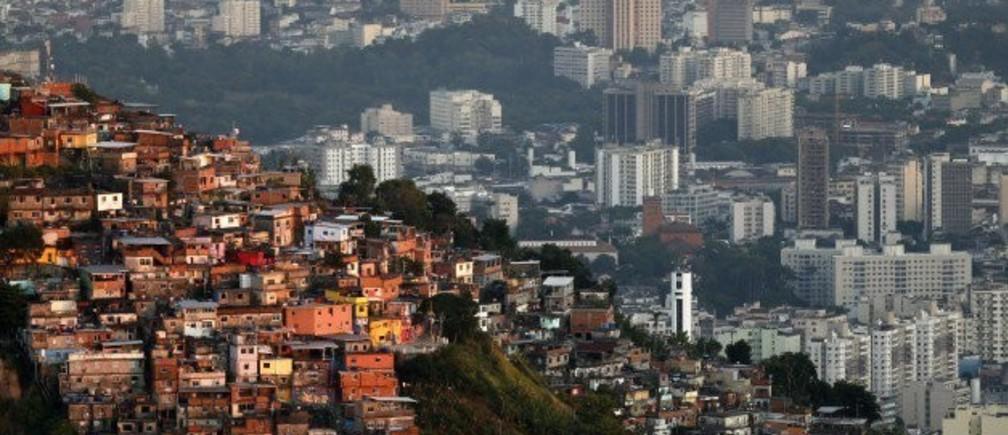 A view of the Turano slum in Rio de Janeiro.