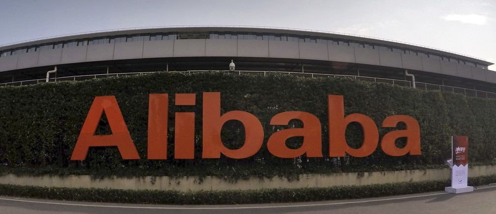 A logo of Alibaba Group is pictured at its headquarters in Hangzhou, Zhejiang province, China, October 14, 2015. Chinese e-commerce giant Alibaba Group Holding Ltd is lobbying hard to stay off the U.S. Trade Representative's blacklist after coming under renewed pressure this year over suspected counterfeits sold on its shopping platforms. Picture taken October 14, 2015. REUTERS/Stringer CHINA OUT. NO COMMERCIAL OR EDITORIAL SALES IN CHINA  - RTS4X2S