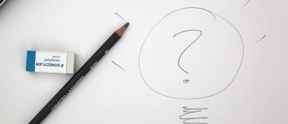 black pencil on white printerpaper