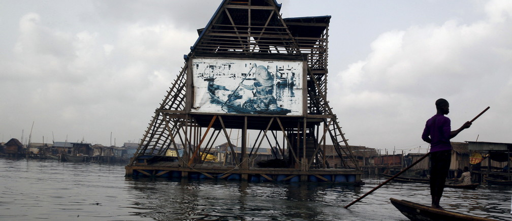 The Makoko floating school is seen anchored in the Lagos Lagoon, Nigeria February 29, 2016.