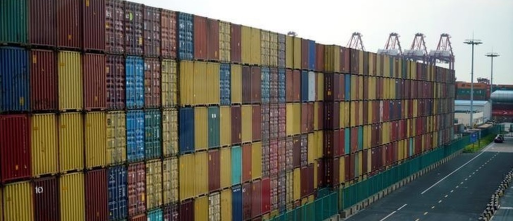Containers are seen at the Yangshan Deep Water Port, part of the Shanghai Free Trade Zone, in Shanghai, China March 14, 2018. REUTERS/Aly Song