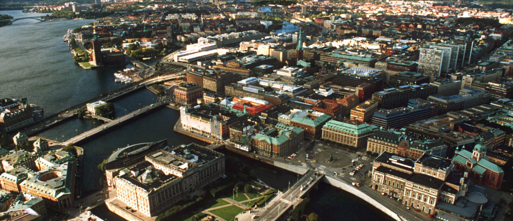 Aerial view of the city of Stockholm - RTXGVOP