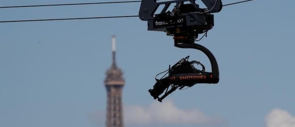 Tennis - French Open - Roland Garros, Paris, France - June 3, 2018   A TV Camera is seen   REUTERS/Christian Hartmann