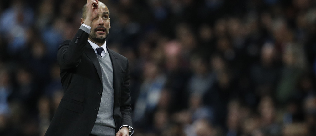 Britain Football Soccer - Manchester City v AS Monaco - UEFA Champions League Round of 16 First Leg - Etihad Stadium, Manchester, England - 21/2/17 Manchester City manager Pep Guardiola  Reuters / Phil Noble Livepic - RTSZPJX