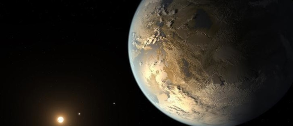 Kepler-186f, the first validated Earth-size planet to orbit a distant star in the habitable zone?a range of distance from a star where liquid water might pool on the planet's surface, is seen in a NASA artist's concept released April 17, 2014. The discovery, announced on Thursday, is the closest scientists have come so far to finding a true Earth twin. The star, known as Kepler-186 and located about 500 light years away in the constellation Cygnus, is smaller and redder than the sun.  REUTERS/NASA/JPL-Caltech/Handout  (UNITED STATES - Tags: SCIENCE TECHNOLOGY) THIS IMAGE HAS BEEN SUPPLIED BY A THIRD PARTY. IT IS DISTRIBUTED, EXACTLY AS RECEIVED BY REUTERS, AS A SERVICE TO CLIENTS. FOR EDITORIAL USE ONLY. NOT FOR SALE FOR MARKETING OR ADVERTISING CAMPAIGNS