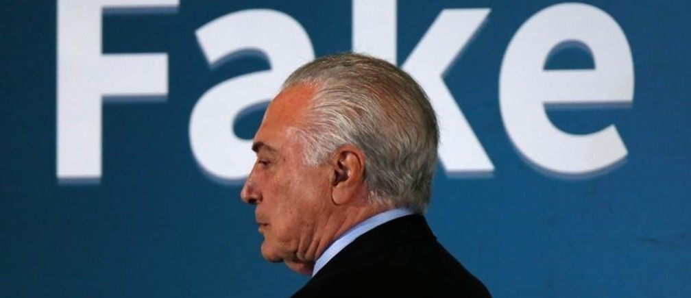 Brazil's President Michel Temer leaves a seminar about fake news in Brasilia, Brazil June 20, 2018. REUTERS/Adriano Machado - RC15C191EB60