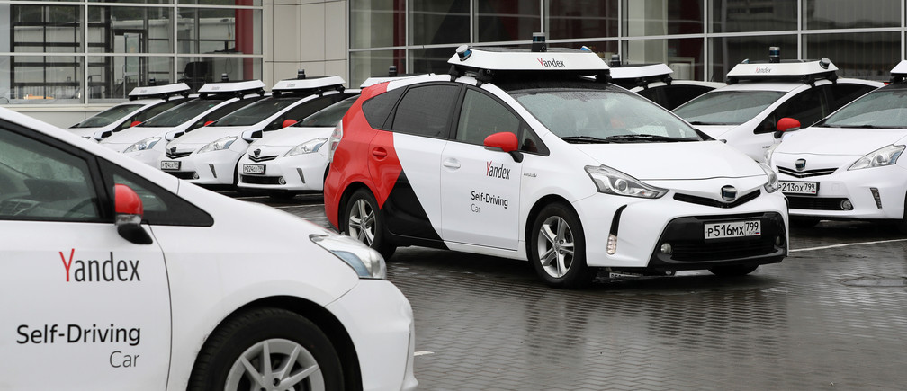 A view shows self-driving cars owned and tested by Yandex company during a presentation in Moscow, Russia August 16, 2019. Picture taken August 16, 2019.