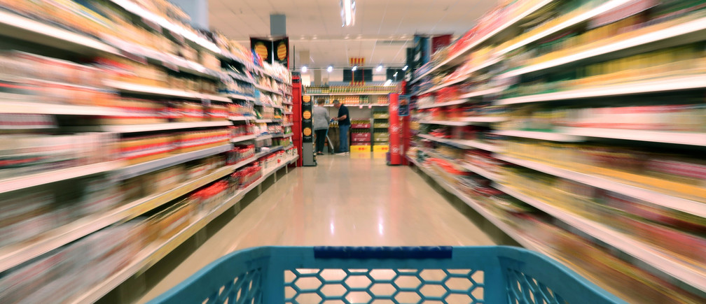 View from a trolley running by a Caprabo supermarket in El Masnou, near Barcelona, Spain May 19, 2017.