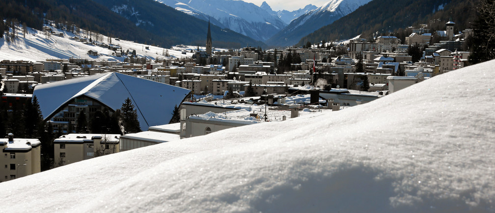 DAVOS/SWITZERLAND, 23JAN13 - View of Davos on a picture perfect winter day during the Annual Meeting 2013 of the World Economic Forum in Davos, Switzerland, January 23, 2013.Copyright by World Economic Forumswiss-image.ch/Photo Andy Mettler