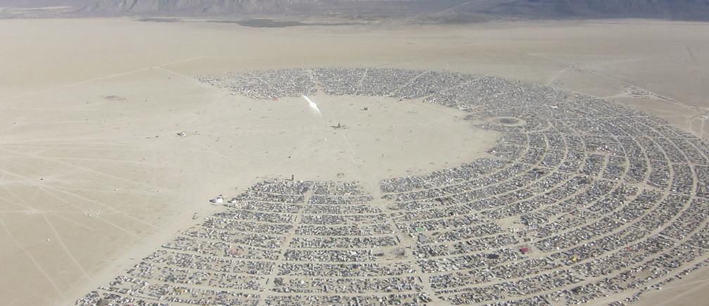 Burning Man - an aerial view