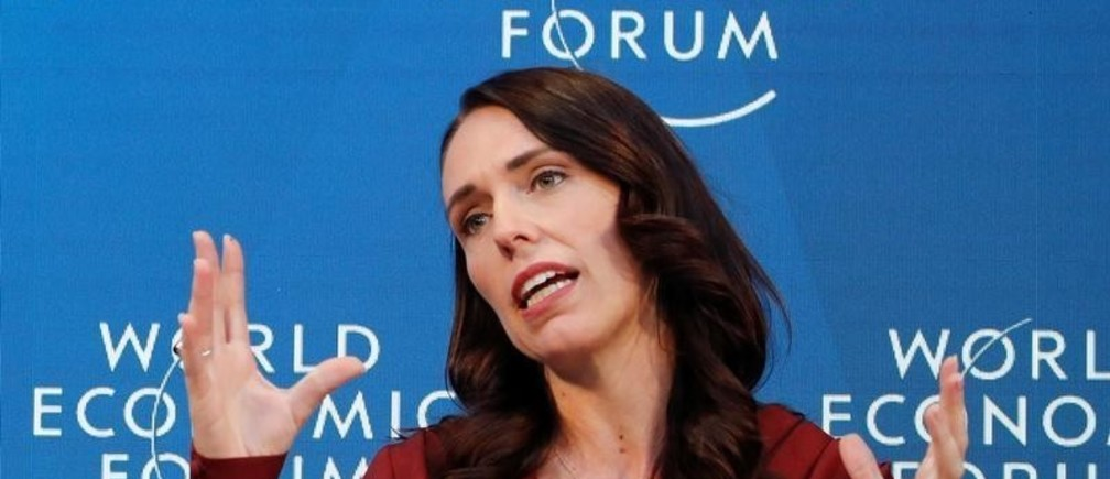 New Zealand's Prime Minister Jacinda Ardern gestures as she attends the World Economic Forum (WEF) annual meeting in Davos, Switzerland, January 23, 2019. REUTERS/Arnd Wiegmann - RC165E30D340