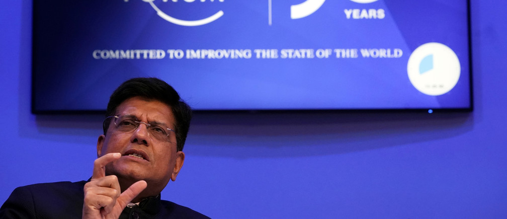 Piyush Goyal, India's Minister of Railways and Minister of Commerce and Industry, attends a session at the 50th World Economic Forum (WEF) annual meeting in Davos, Switzerland, January 21, 2020.