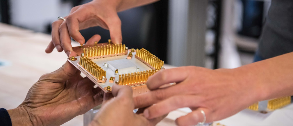 A handout picture from October 2019 shows a component of Google's Quantum Computer in the Santa Barbara lab, California, U.S. Picture taken in October 2019.      Google/Handout via REUTERS        THIS IMAGE HAS BEEN SUPPLIED BY A THIRD PARTY. - RC11AFFA8820