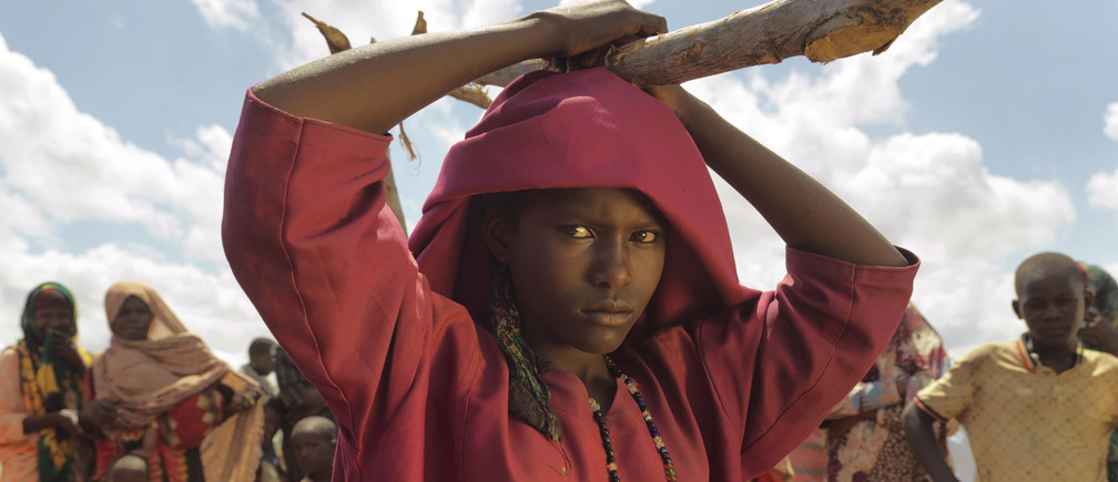 Fadumo Nunow Abdillow, 15, at Muuri IDP Camp, Baidoa District, Somalia.   In Baidoa, at least 155,000 Somalis have been displaced from their homes because of drought and instability and they are residing in temporary huts. They make up some of the nearly 700,000 Somalis displaced since November 2016 after two seasons of failed rains.Numerous displaced Somalis interviewed by Mercy Corps said that this drought surpasses the severity of the 2011 crisis. At that time, unlike now, aid was able to reach rural regions outside of the control of government forces.Mercy Corps operates mainly in three camps where we provide water and food distributions, and will soon be expanding in to hygiene and livelihoods.