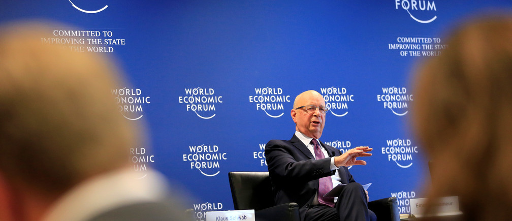 World Economic Forum (WEF) Executive Chairman and founder Klaus Schwab attends a news conference in Cologny, near Geneva, Switzerland January 10, 2017. REUTERS/Pierre Albouy - RTX2YB3T