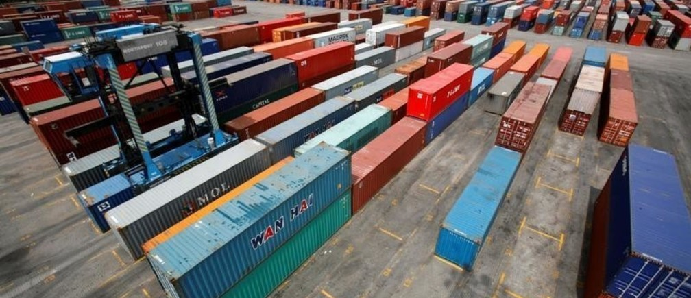FILE PHOTO: A general view of a container yard at North Port in Port Klang outside Kuala Lumpur January 8, 2009.